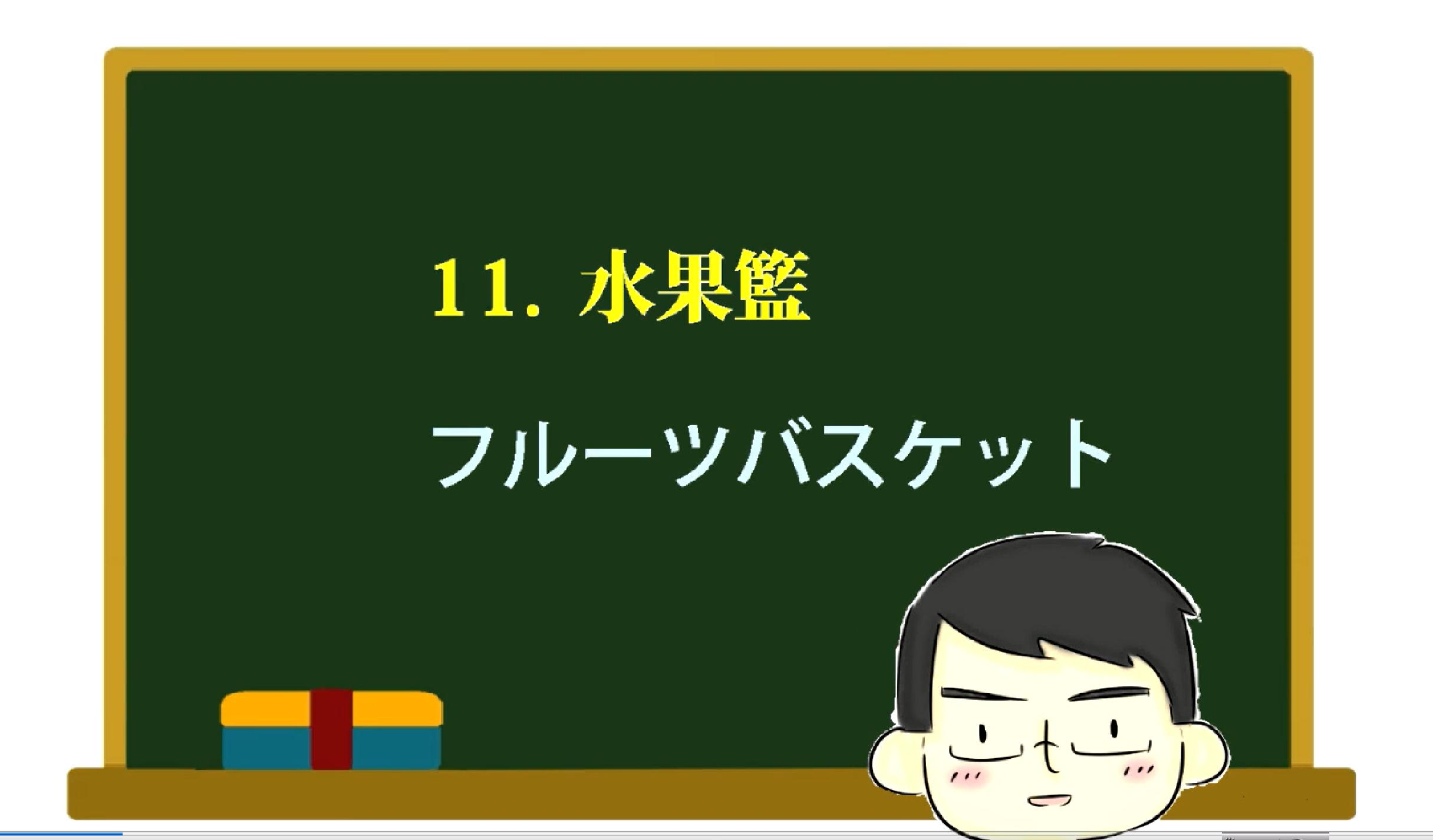 日文教室活動11.水果籃(フルーツバスケット)/単語ドリル