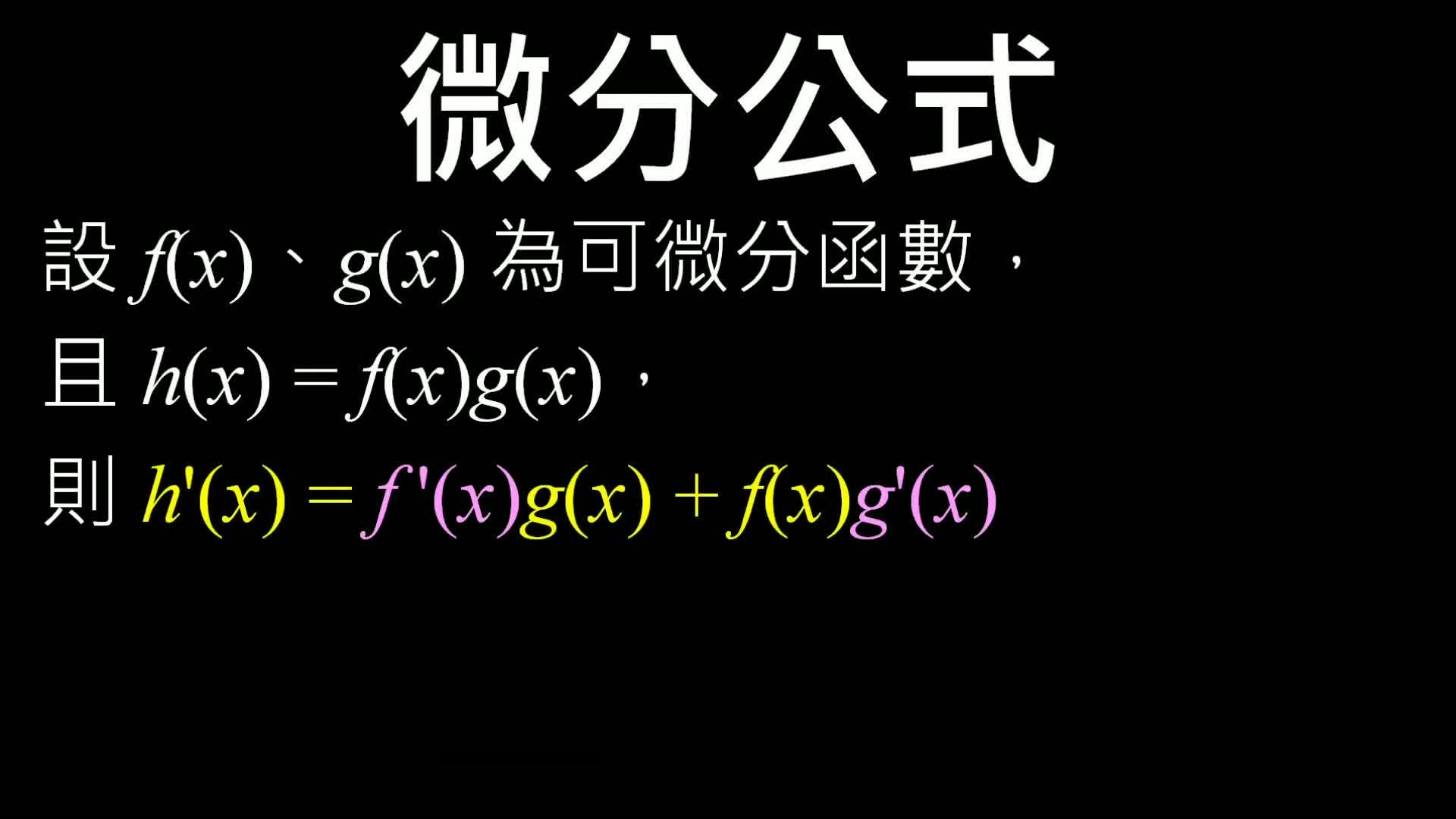 高三數學【微積分】─微分-承積微分及其實例